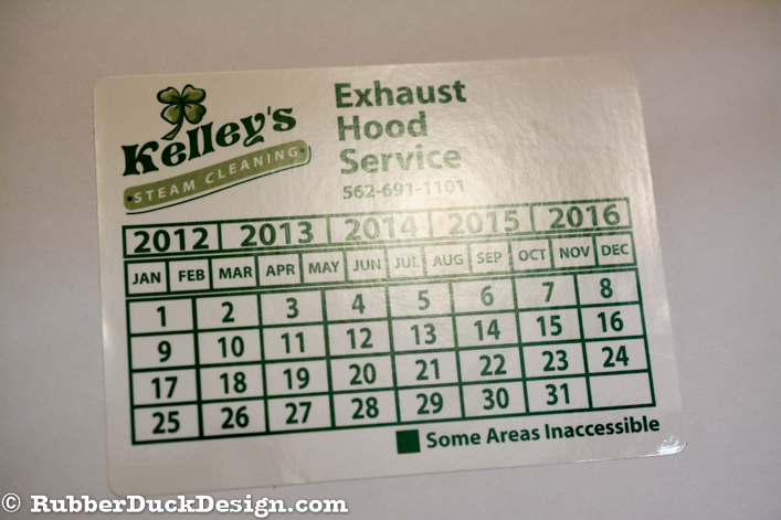 Ink Printed Seal - Green Ink on White Gloss