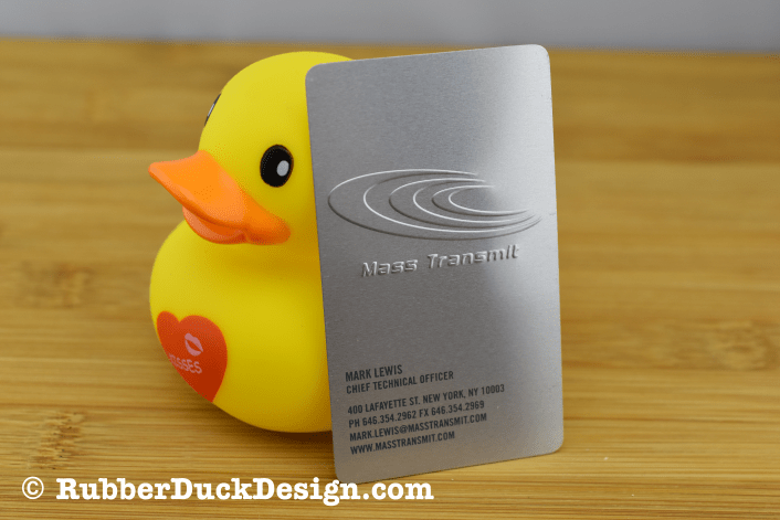 Brushed Aluminum - Embossing and Grey Ink
