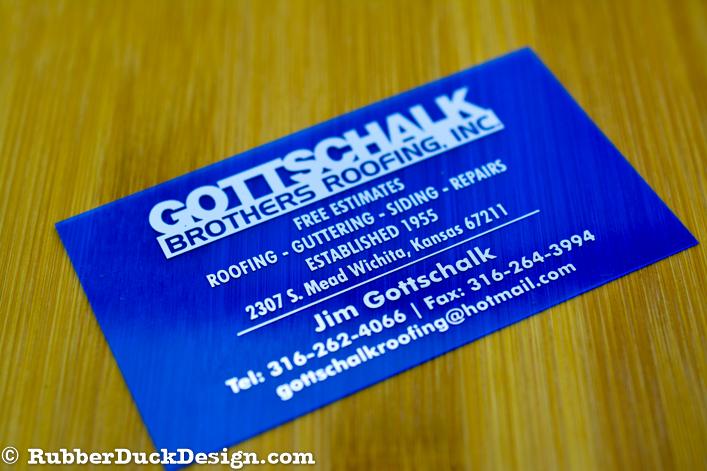 Blue Translucent Plastic Business Cards