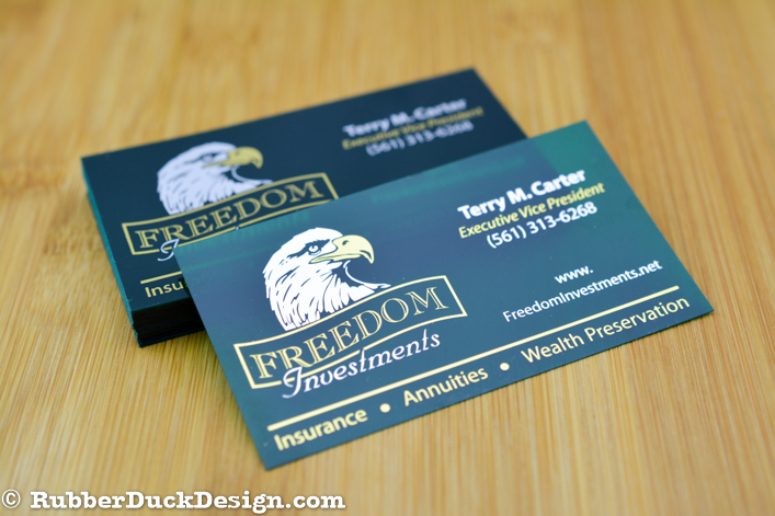 Green Translucent Plastic Business Cards