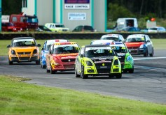 The Swift Sport racing as usual produced some close quarter racing