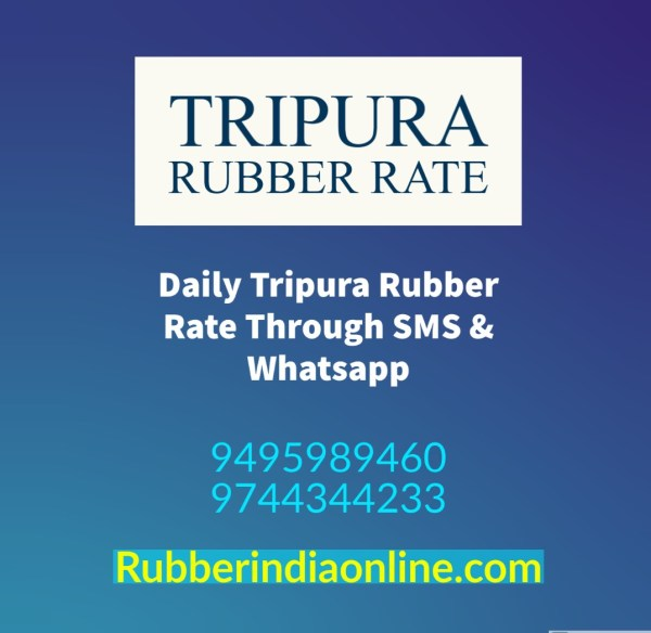 Know the Tripura Rubber Rate. Sell ​​rubber for a good price. Call 9495989460
