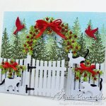 Rubbernecker Stamps Blog Come-see-how-I-made-this-whimsical-Christmas-card-with-cats-and-garden-arbor.