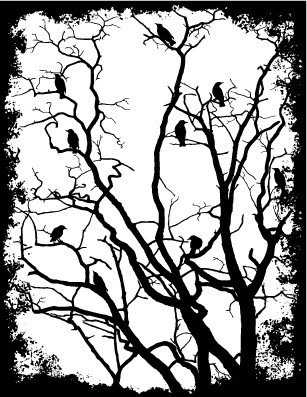 Rubbernecker Blog 1358-framed-crows-in-trees