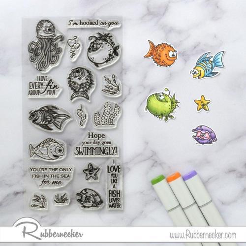 Rubbernecker Blog Happy-Fish-Slimline-Card-by-Annie-Williams-for-Rubbernecker-Coloring-500x500
