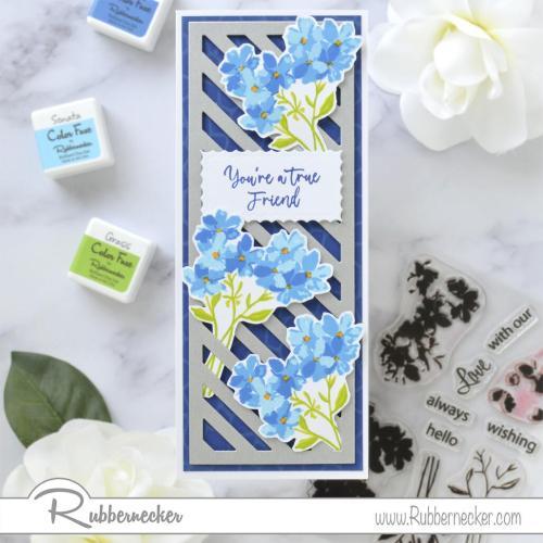 Rubbernecker Blog Blue-Bunches-Slimline-Card-by-Annie-Williams-for-Rubbernecker-Flat
