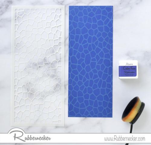 Rubbernecker Blog Blue-Bunches-Slimline-Card-by-Annie-Williams-for-Rubbernecker-Stenciling-500x481