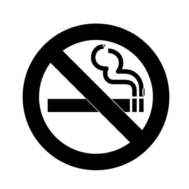 no smoking sign 2  aluminium