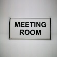 office sign meeting room