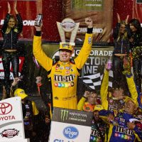 MENCS: Kyle Busch Takes Advantage of Late Cautions, Gets Third Win a Row