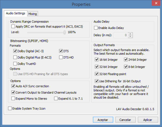 MPC-HC Audio Decoder