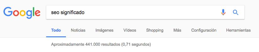Posicionamiento SEO Google