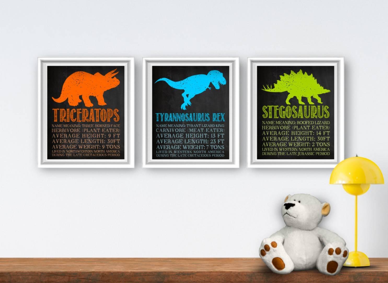 18 Best Ideas Of Dinosaur Wall Art