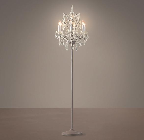 35 Inspirations of Crystal Chandelier Floor Lamp