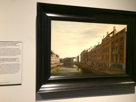 An old view of Amsterdam, eternalized in painting
