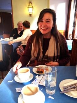 Coffee and napolitanas in the Lounge at La Mallorquina