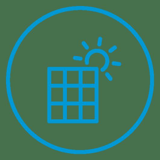 Alimentada con energía solar