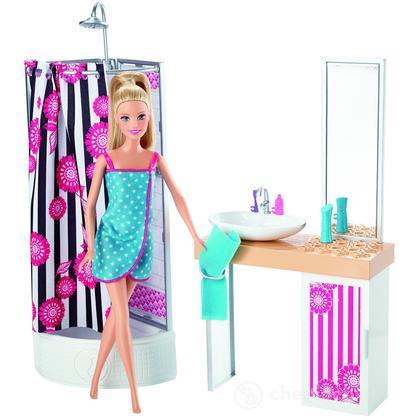 Bagno  Barbie e i suoi Arredamenti CFB61  Casa delle bambole e accessori  Mattel