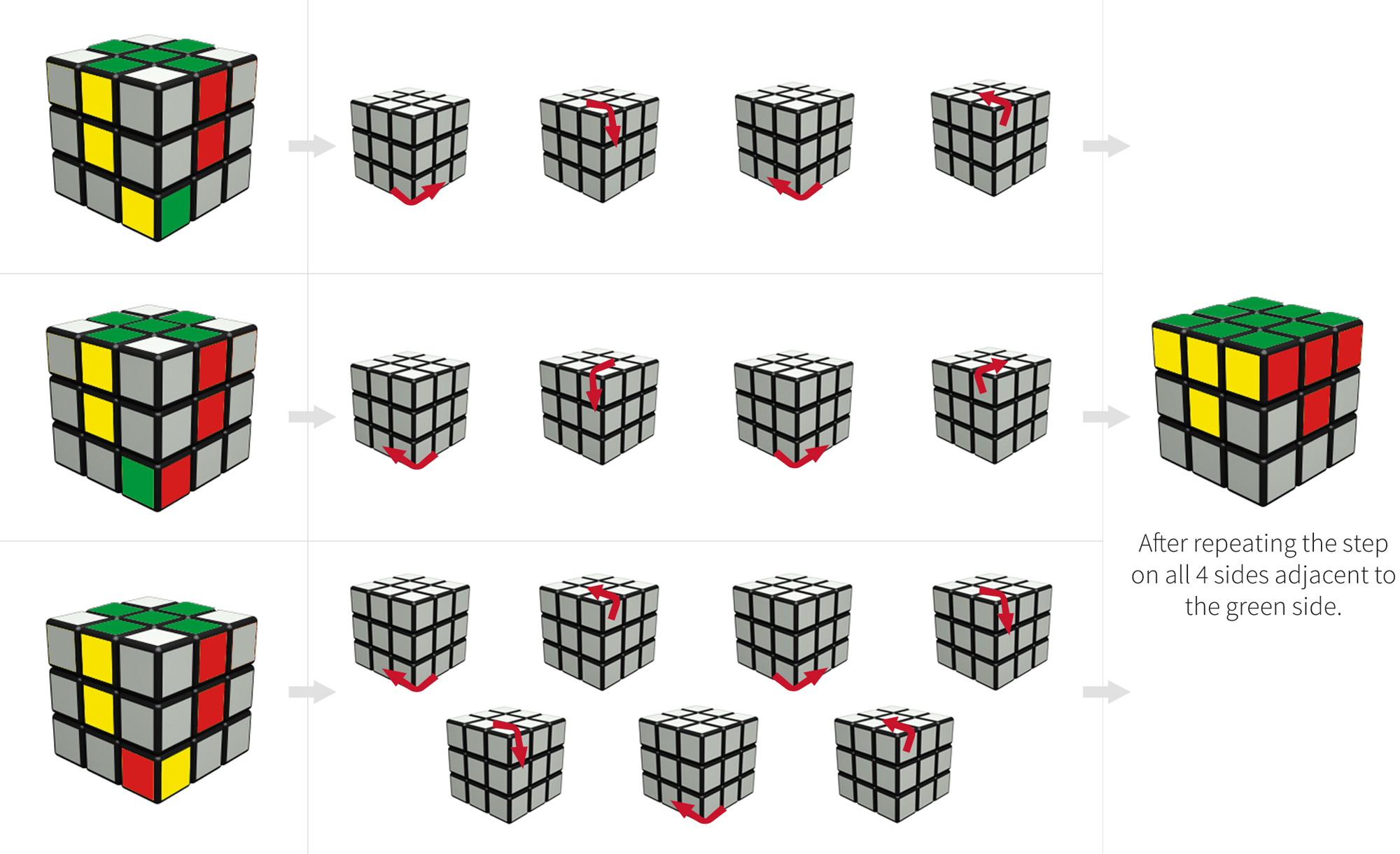 hight resolution of how to solve a rubix cube