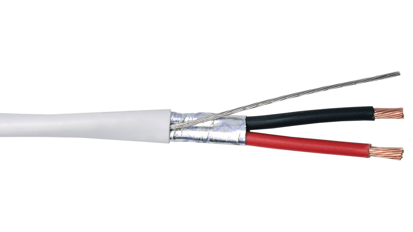 16-2C-PSH-WHT - Commercial Grade General Purpose 16 AWG 2-Conductor Plenum Shielded Cable