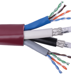 structured solutions 2 rg6hd 2 category 6 utp jacketed composite cable  [ 1600 x 900 Pixel ]