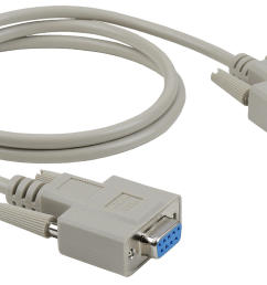 economy molded d sub db9 female to female null modem cable  [ 1600 x 900 Pixel ]