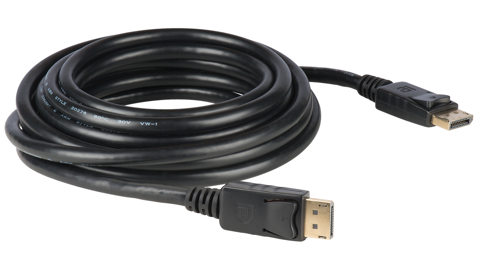 hight resolution of displayport molded awm rated interconnection cables