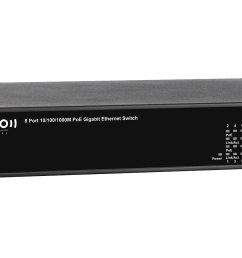 niveo 8 port gigabit high power poe rear facing switch [ 1600 x 900 Pixel ]