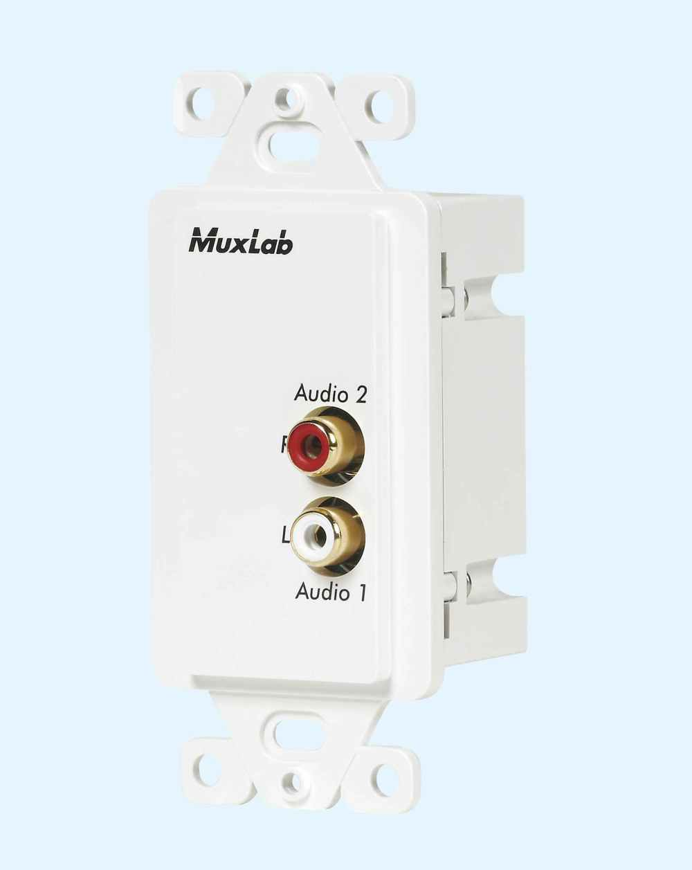 medium resolution of 500028 wp us muxlabs stereo audio balun wall plate with l r rca wiring diagram rca sound head 1040