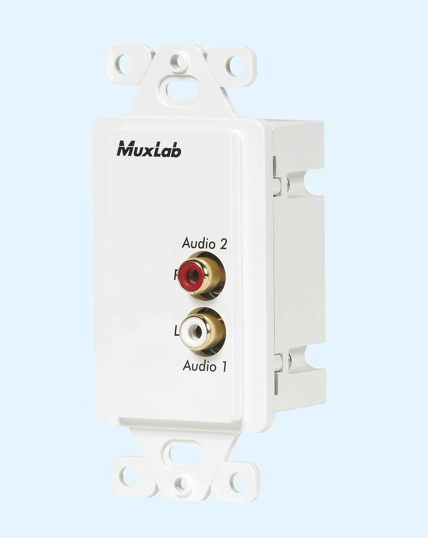 hight resolution of 500028 wp us muxlabs stereo audio balun wall plate with l r rca wiring diagram rca sound head 1040