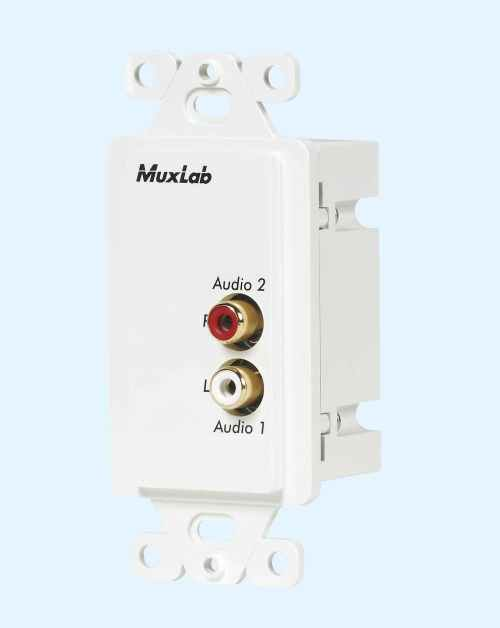 small resolution of 500028 wp us muxlabs stereo audio balun wall plate with l r rca wiring diagram rca sound head 1040