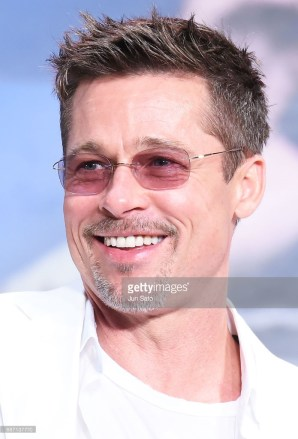 Brad Pitt at the War Machine premiere in Tokyo, Japan