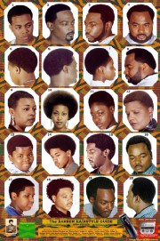 black barber hairstyle guide poster