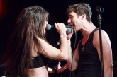 Chloe and Dave singing together