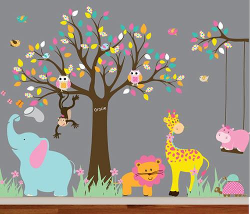 Ideen voor de muur van een kinderkamer  Mama Rubriek