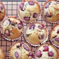 Raspberry and Dark Chocolate Muffins