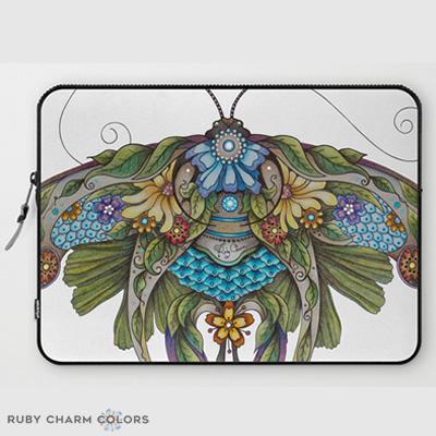 Botanical Butterfly No. 1 Laptop Sleeve