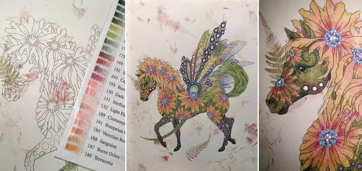 Flower Horse RubyCharmColors