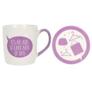 Add To Cart Mug & Coaster Set