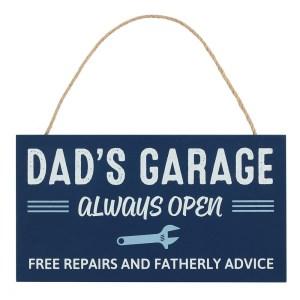 Dads Garage Always Open Plaque