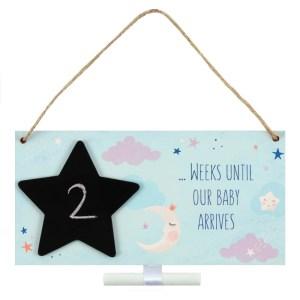 Baby Arrival Pregnancy Countdown Plaque