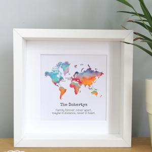 Personalised Long Distance Family Frame