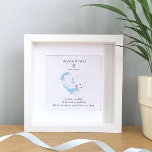 Personalised Framed Map Engagement Gift