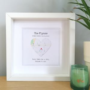 Personalised Framed New Home Map Gift