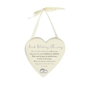 Irish Wedding Blessing Heart Plaque