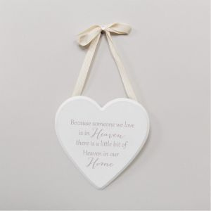 Heaven In Our Home In Memory Heart Plaque