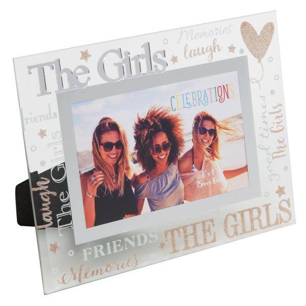 The Girls Mirror Glass Photo Frame