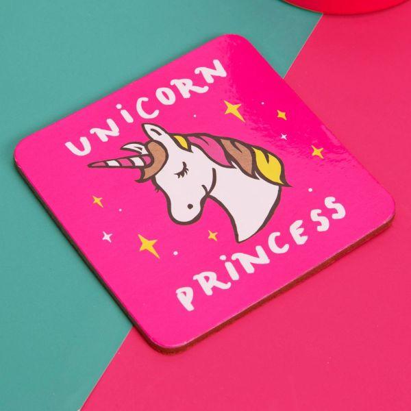 Unicorn Princess Mug & Coaster Set