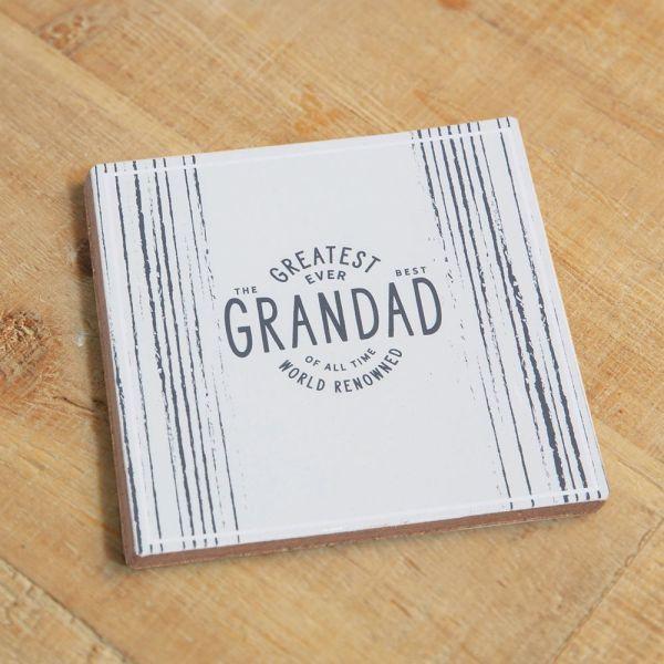 Greatest Grandad Ever Whiskey Glass & Coaster Set