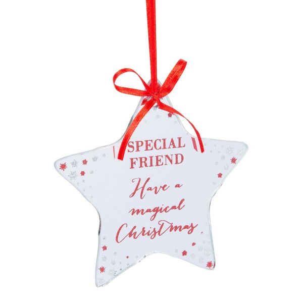 Special Friend Mirror Glass Hanging Decoration